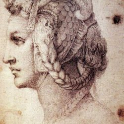 Michelangelo Female Head in Profile